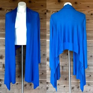BCBG Blue Kattianne Signature Cardi-Wrap Sz M/L